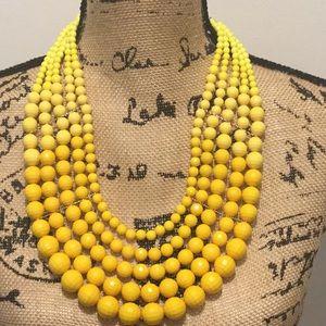 Ashley Stewart,  5 strand Goldtone Yellow Necklace